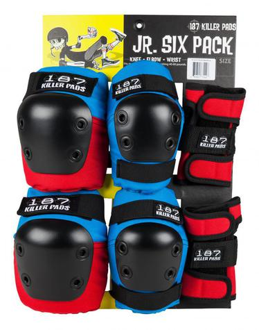 187 Pad Set JR. Six Pack RED BLUE