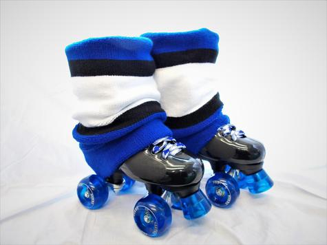 Ventro Pro QUAD ROLLER SKATE with BLUE puffer set up