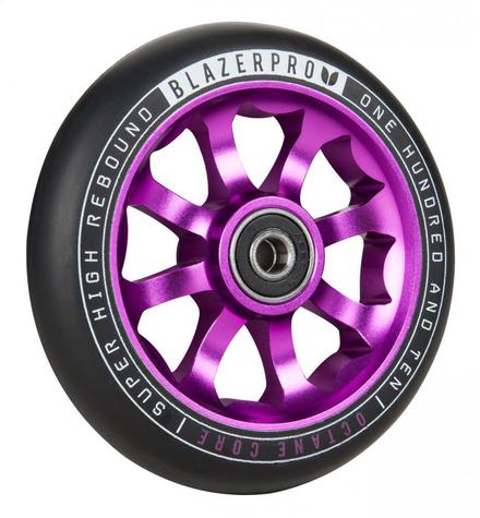 Blazer Pro Scooter Wheel Octane 110mm with Abec 9 purple