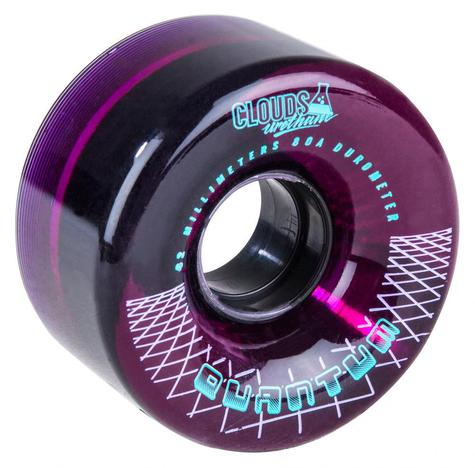 Clouds Urethane Wheels Quantum Outdoor 80a (PK 4) Clear/Purple