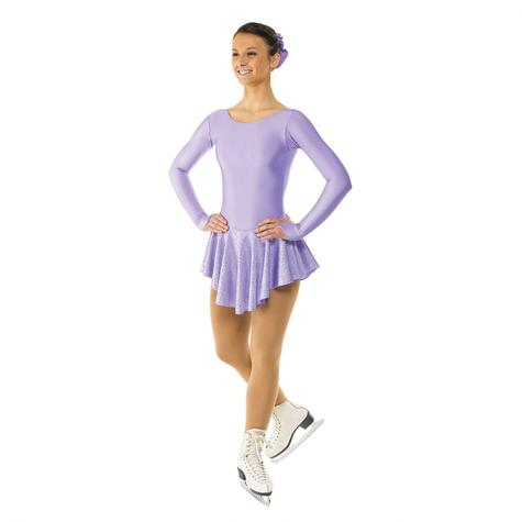 Skating Dress With Round Scoop Neck in Lilac