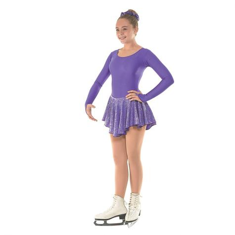 Skating Dress With Round Scoop Neck in Purple