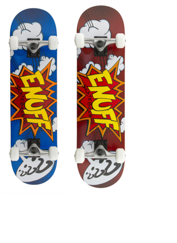 Enuff POW regular size skateboars complete red