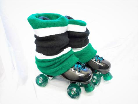 Ventro Pro QUAD ROLLER SKATE with green puffer set up