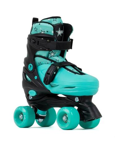 SFR Nebula Adjustable Quad Skates - Green - Kids