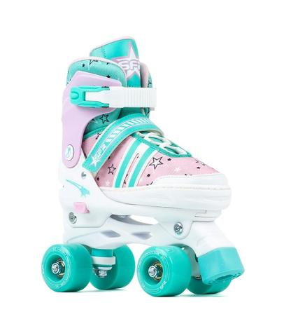 SFR Spectra Adjustable Quad Skates - Pink / Green - Kids