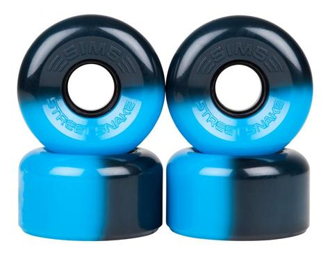 Sims Quad Wheels Street Snakes BLACK - BLUE PACK OF 4