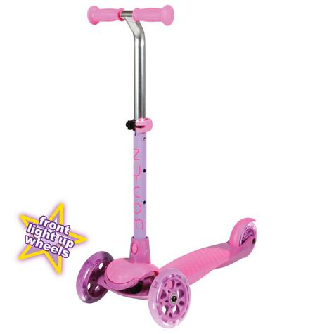 ZYCOM ZING inc LIGHT UP WHEELS - PINK / PURPLE 3 WHEEL SCOOTER