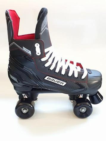 Bauer NS Quad CONVERTED Roller Skates WITH SIMS Street Snakes  WHEELS