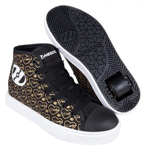 Heelys Veloz Black / Gold / Hearts