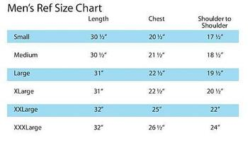 Mens Ref Size Chart