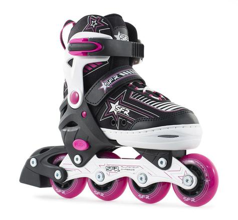 SFR Pink Pulsar Inline Adjustable Childs Skates