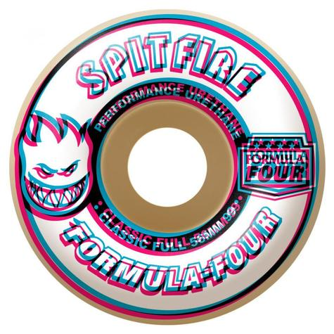 Spitfire Formula Four Skateboard Wheels Conical Full 99DU Natural 52mm New Skate