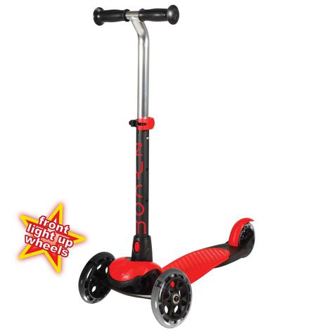 ZYCOM ZING inc LIGHT UP WHEELS - RED / BLACK 3 wheel scooter